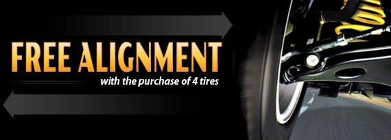 Free Wheel Alignment with Purchase of 4 Tires in Houston TX